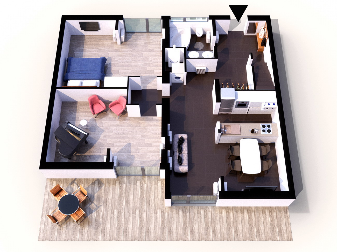 Дизайн домов в разных стилях фото